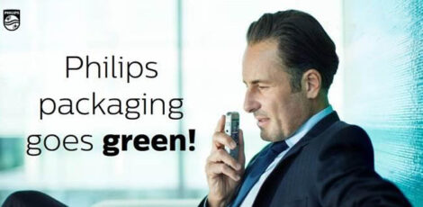 Philips takes a lead with green product packaging!