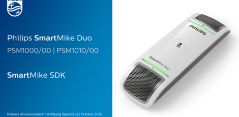 Philips release new SmartMike – record and identify two speakers at once using AI technology!